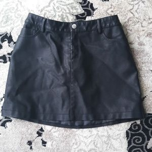 Forever 21 Faux-Leather Skirt